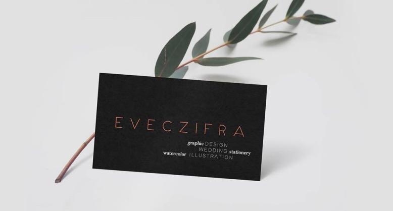 Eveczifra névjegykártya terv