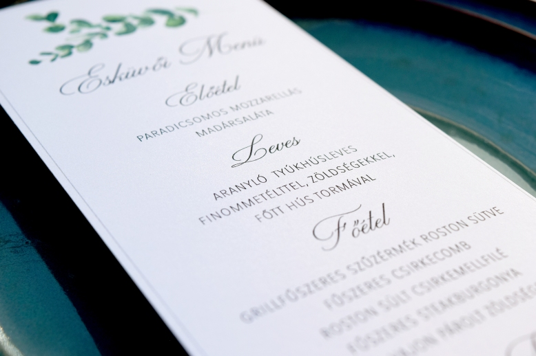 Esküvői Menü