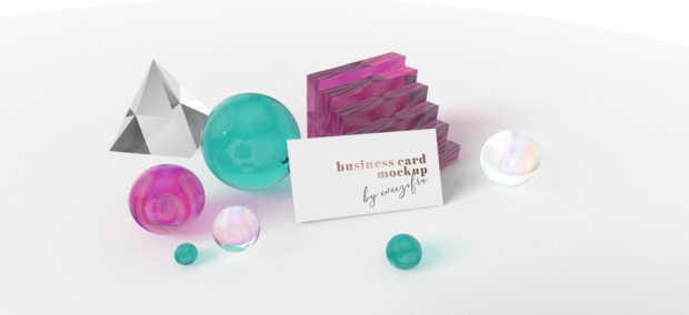 Business card spheres_minta